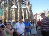 Our group in front of St.Vitus Cathedral